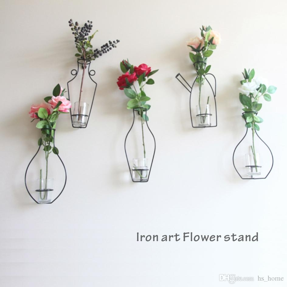 225 & Stylish Simplicity Creative Home Decoration Vase Shelf Flowers Green Plant Tray Wall Decoration Iron Art Flower Stand. Buy Flower Vase Online Buy ...