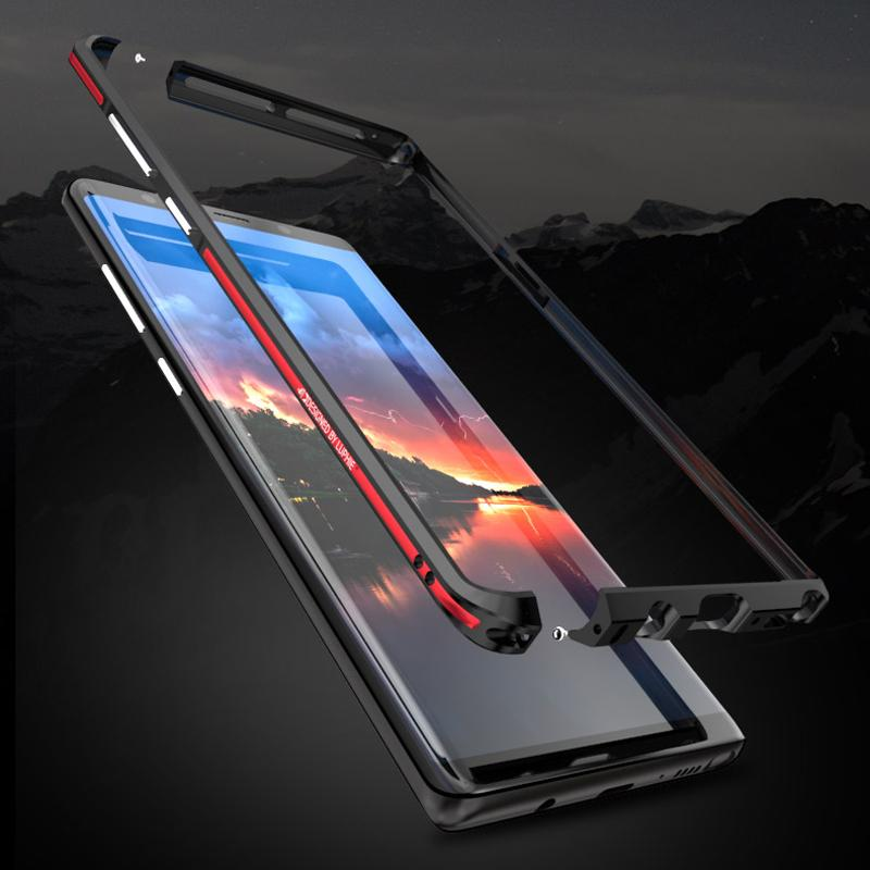 new arrival be041 0a171 2019 Aluminum Metal Bumper SFor Samsung Note 8 Case Slim Shockproof Phone  Frame Shell Armor SFor Samsung Galaxy Note 8 Case Note8 From Shuokai003, ...