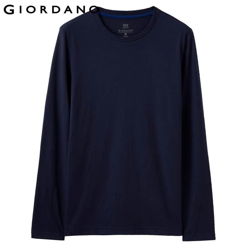 Männer T-Shirt Solide Gerippte Rundhals T-Shirts Lange Ärmel Gebürstete Baumwolle Warme Passform T Winter Freizeitkleidung Heißer Verkauf