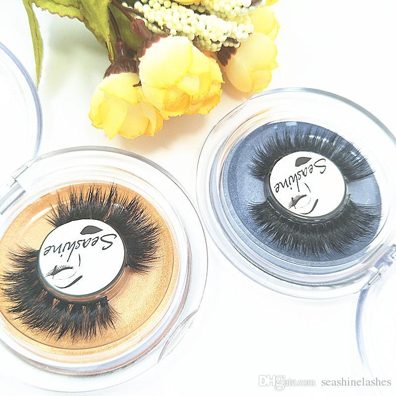 Seashine 10 Pair Women Eyelashes Natural Black Thick Soft Long Handmade False Eyelashes Luxurious Real Mink Hair Makeup Extension Beauty