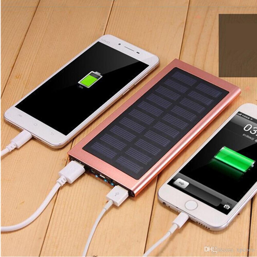 Original de la energía solar banco portable 10000mAh cargador solar portátil cargador de reserva universal del teléfono celular externa batería del teléfono Banco de alimentación