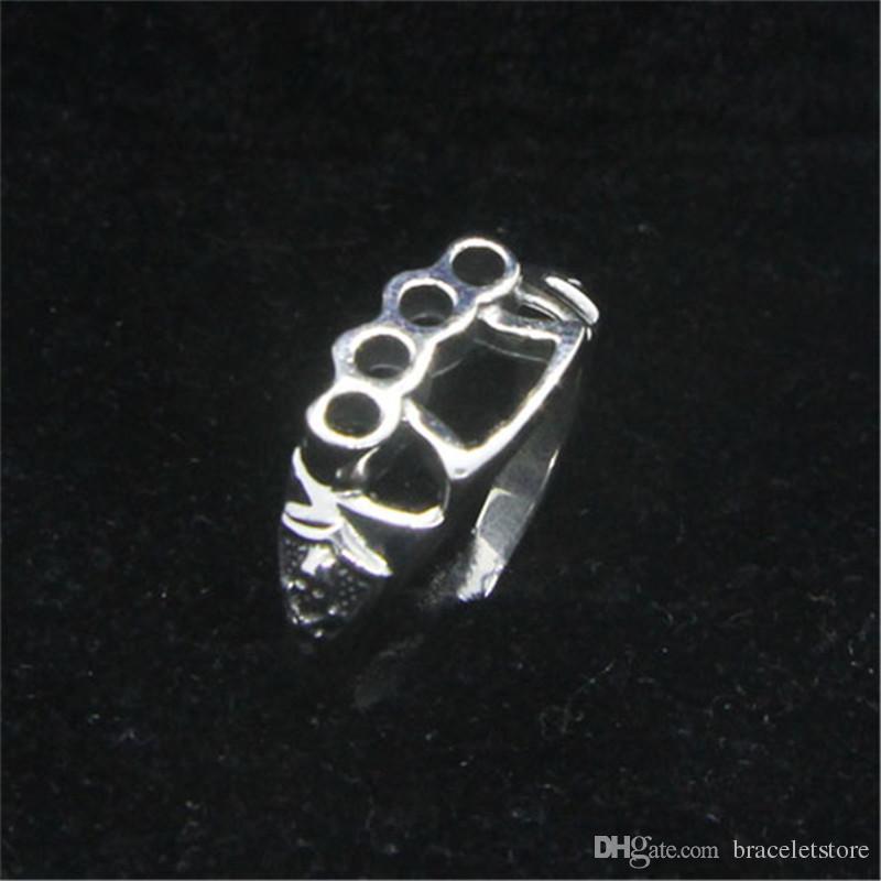 1 PC Darmowa wysyłka Rozmiar 6-10 Lady Girls 925 Sterling Silver Ring Jewelry Najnowszy S925 Moda Czaszka Pierścień