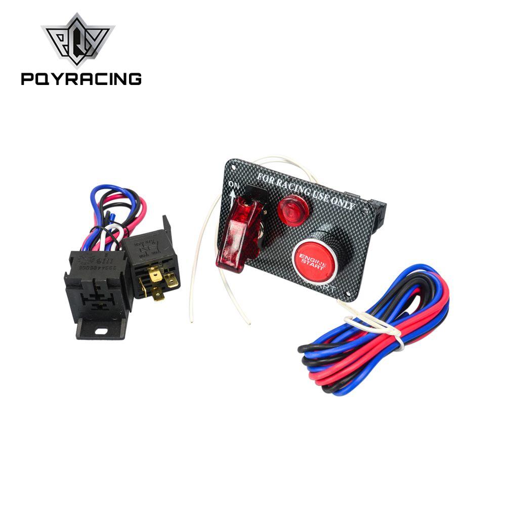 PQY-Sıcak Satış Araba Yarışı Elektronik Tek Anahtarı Kiti Paneli Motor aksesuar ile PQY-QT312 Başlat Düğmesi geçiş