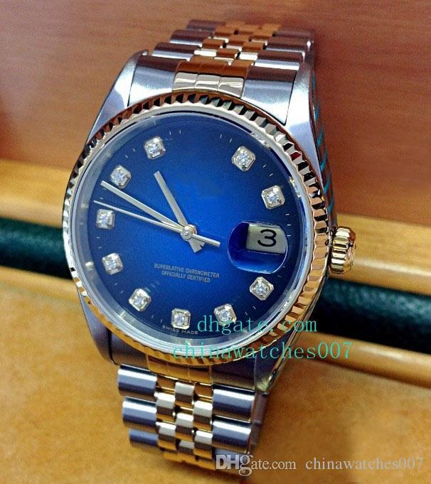 2018 vente chaude acier femme et hauteur 36 mm bracelet en acier inoxydable automatique 16233 Montres de montre pour hommes de luxe Mens Montres Qualité 2018 Shipi