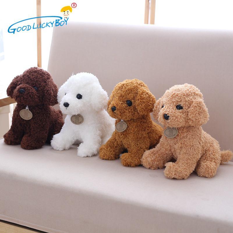 18 CM Lindo Simulación Cachorro Niños Muñecas Rizado Peluche Peluche Perro de Peluche Mascota Suave Anime Juguetes Para Niños Decoración Colección Brinquedos