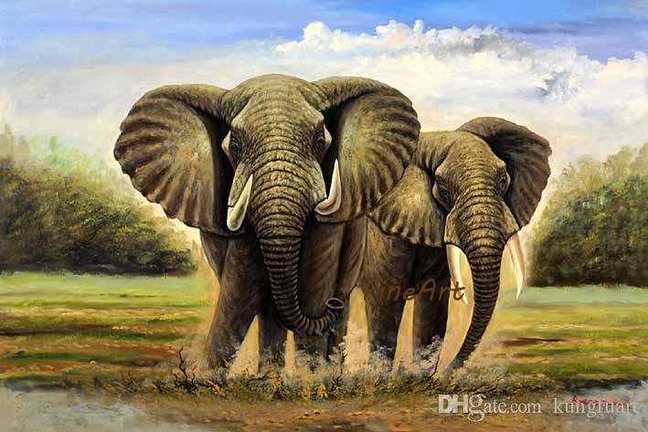 2020 Hand Painted Good Quality Wall Art Elephant Art Paintings Animal Wall Canvas Arts Oil Paintings Gallery Art Pieces Living Room From Kungfuart 46 88 Dhgate Com