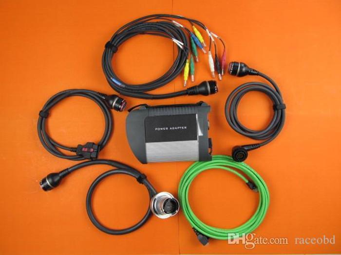 Melhor qualidade com wifi para mb estrela c4 carro e caminhão ferramenta de diagnóstico sem hdd dhl frete grátis