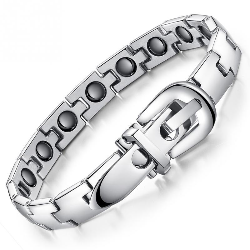 Boucle de ceinture Style Bracelet Acier titane Bracelet magnétique Sport Soins de santé Magnétique Résister à la fatigue