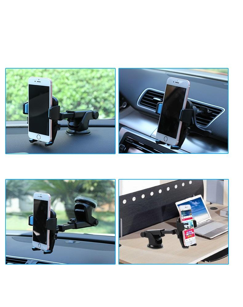 SOFO auto mobile phone bracket air outlet suction disc type universal air conditioner clip, vehicle mounted multi function creativity