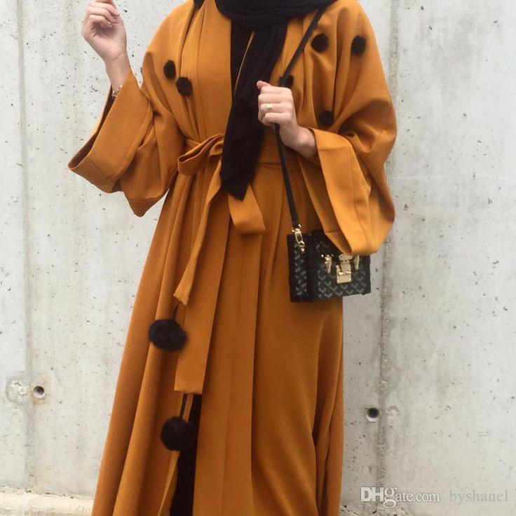 Новая Мода Мусульманин Абая Саудовской Аравии Женщины Платье Цветочный Кардиган Мусульманин Халат Турецкий Ислам Мусульманин Абая Платье vestidos