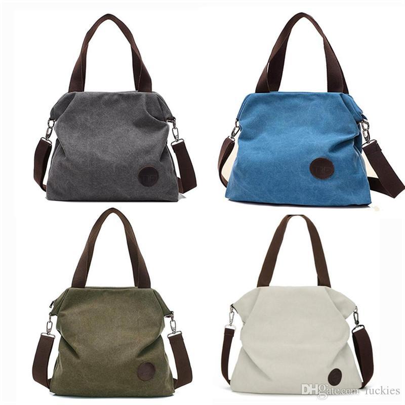 Women Casual Canvas Shoulder Bag Crossbody Bag Messenger Bag Tote Bags Vintage Canvas Purse Shoulder Tote Shopping Handbag