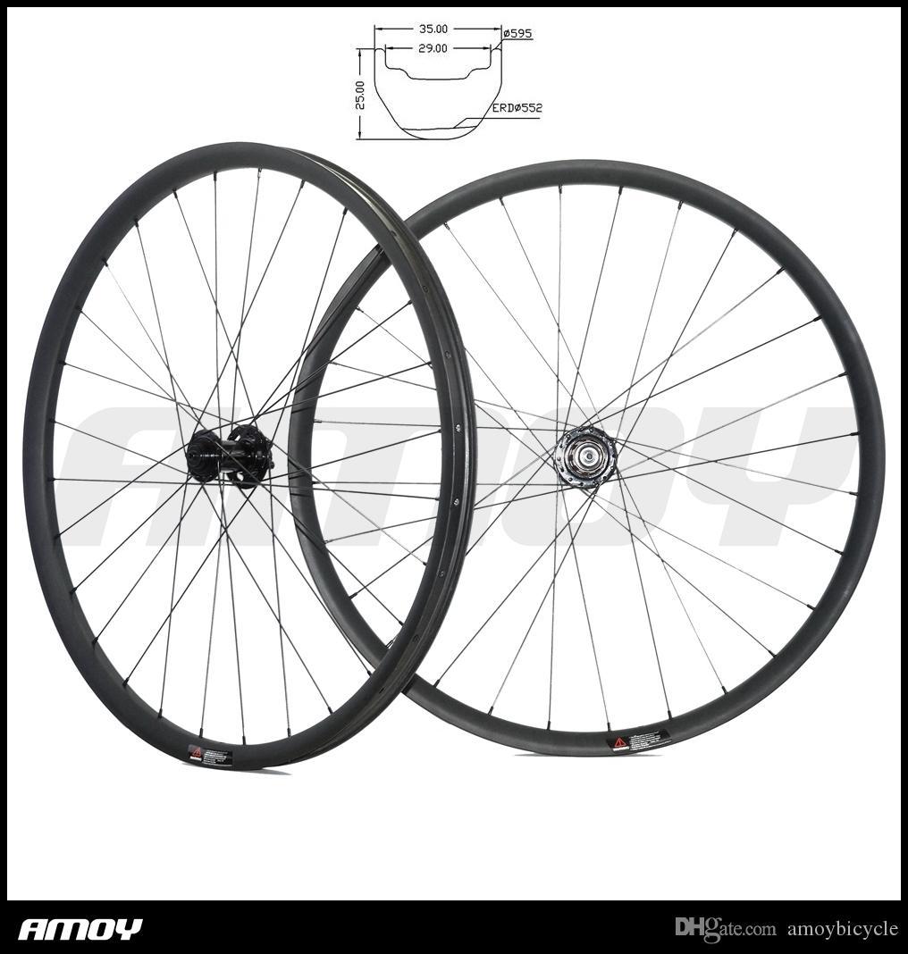 27.5er MTB AM ENDURO عجلات الكربون 34 ملم الفاصلة اللاأنبوبي العجلات