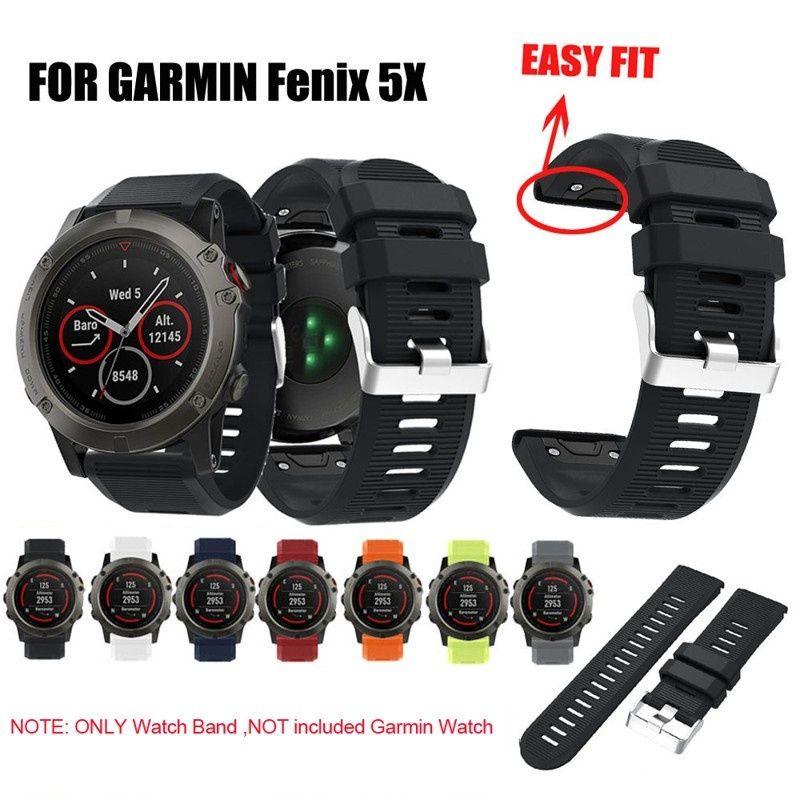ل Fenix 5X Band سريعة الإصدار 26mm سيليكون الذكية ووتش الفرقة ل Garmin Fenix 5X / 3 / 3HR