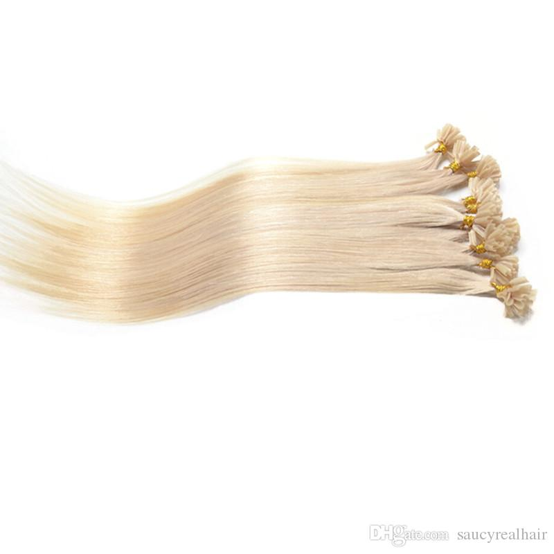 Large Promotion Human Indian Remy U tip hair Extensios Nail Tip virgin hair 16''--22'' 200Gram Lot, Free DHL