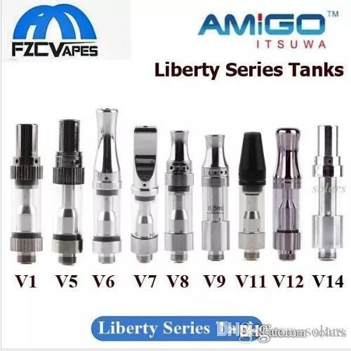 Подлинный Itsuwa Amigo Liberty картридж V1 V5 V6 V7 V8 V9 V10 V11 V12 V14 X5 стеклянный бак для густого масла без утечки 100% оригинал