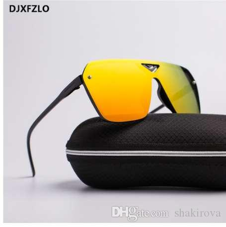 Новый Goggle пластиковые Мужские спортивные мужчины ослепительно солнцезащитные очки мужчины бренд дизайнер модные ретро солнцезащитные очки oculos de sol