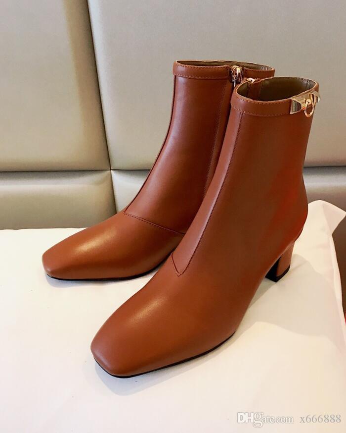 Compre 2018 Botas De Vaquero Clásicas Occidentales Para Mujeres Botas Vaqueras De Cuero Con Punta Puntiaguda Tacones Cuadrados Zapatos Rodilla Alta
