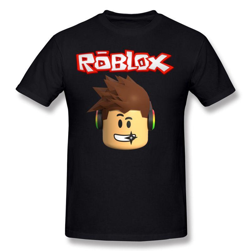믹스 오더 Men 's 100 % Cotton Roblox 캐릭터 헤드 티셔츠 Men 's Crew Neck 화이트 쇼츠 슬리브 Slim Fit 티셔츠 S-6XL 캐주얼 티셔츠
