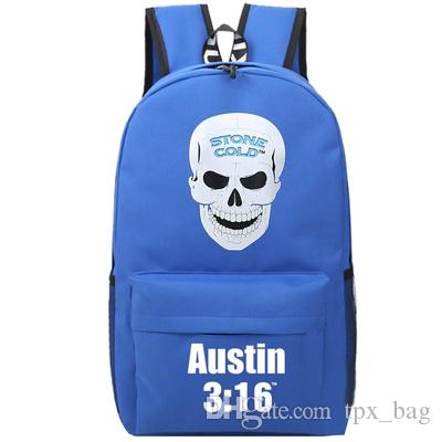 Steve Austin Plecak Stone Cold Daypack Wrestling Skull Schoolbag Leisure Plecak Sport Torba Szkolna Outdoor Day Pack