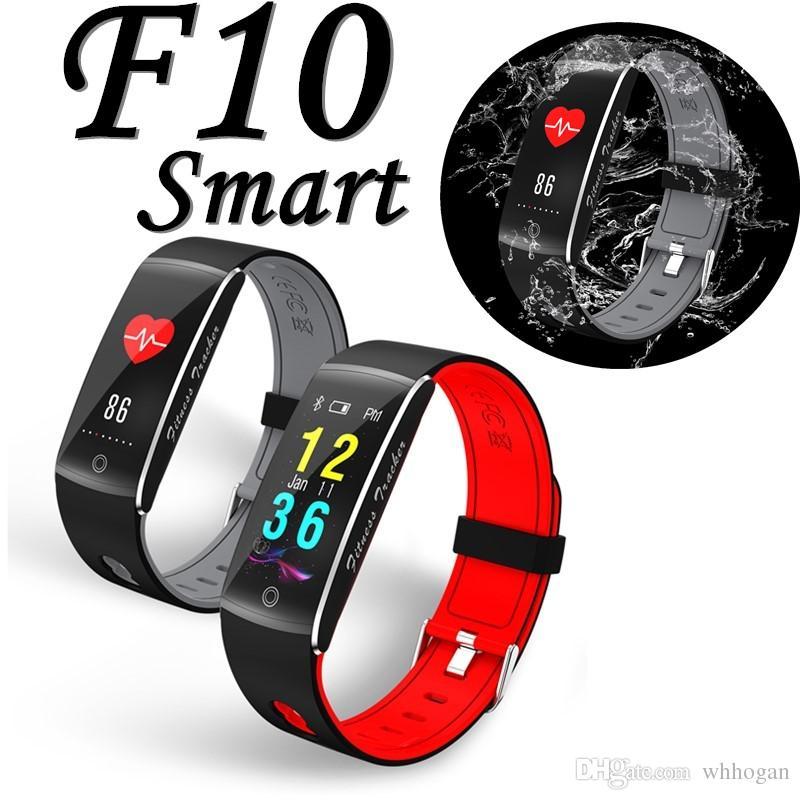 F10 фитнес-трекер смарт-часы артериального давления сердечного ритма сна камеры удаленного кислорода монитор смарт браслет Браслет для Andriod и ios