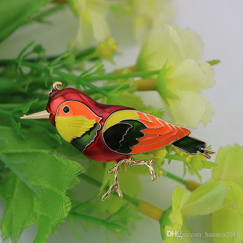 Bird Animals Lark Brooch Pins Jewelry Women Jewelry Bird Collection Wedding Brooches Pin Jewelry Gifts Women Teen Girls