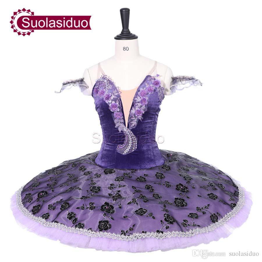 Adult Purple Professional Ballet Tutu The Sleeping Beauty Stage Performance Costumes Children Ballet Dance Competition Apperal Ballet Skirt