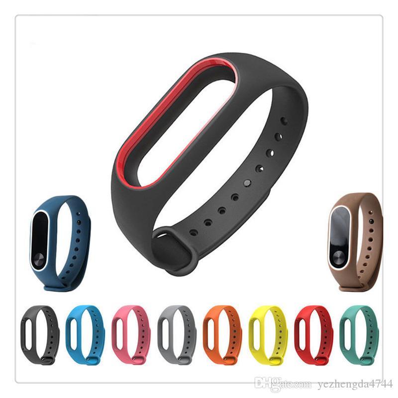 Мода простой мягкий высококачественный силикон заменить ремешок браслет Браслет для MI Band 2 Бесплатная доставка