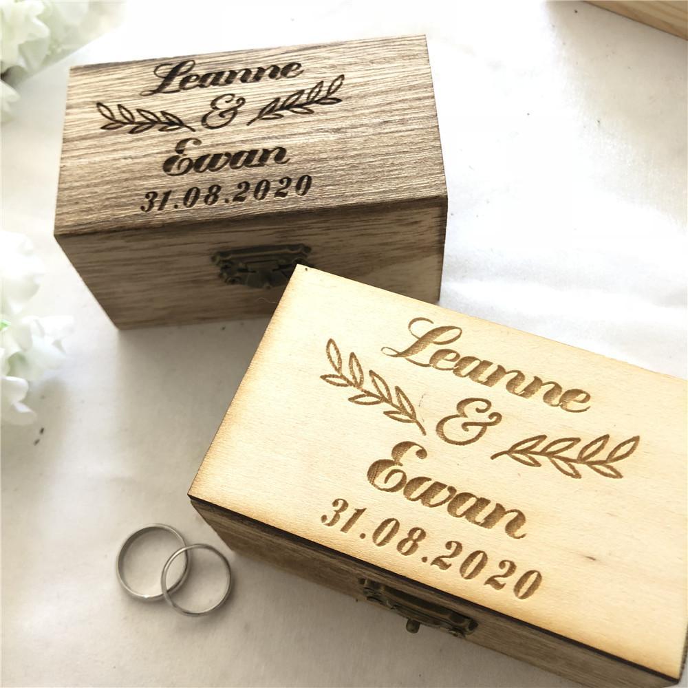 Personalizado Caja De Anillo De Boda De Caja libro de compromiso Caja Caja de boda Anillo Celta