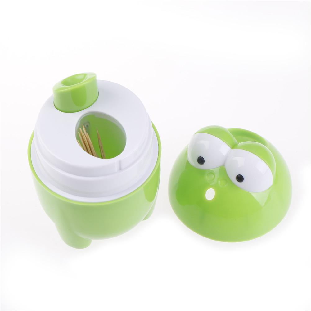 High quality Home Bar Table Accessories Plastic Automatic Toothpick Holder Toothpick Box Dispenser Bucket
