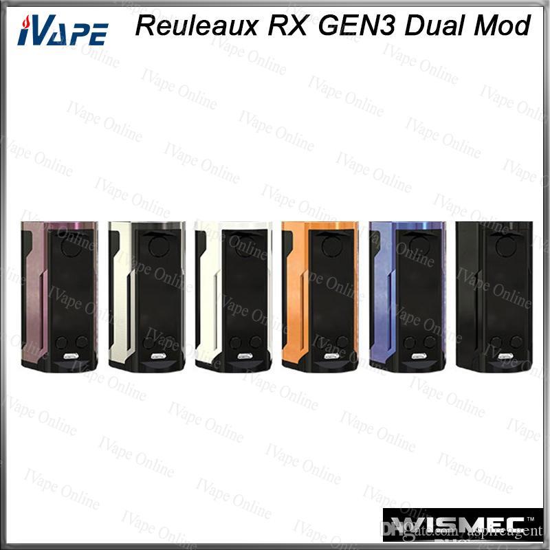WISMEC Reuleaux RX GEN3 Dual TC Box MOD 230W With 1 3 Inch Large Display  Dual Circuit Protection Firmware Upradable 100% Original Mod Vape Ecig Mods