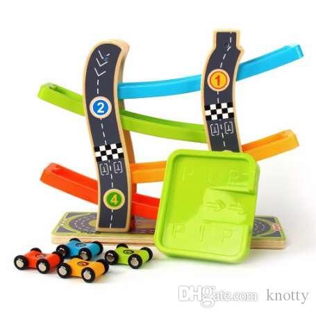 Игрушка Горка Трек Игрушки Автомобильный вагон Игрушка для детей Гоночный трек Автомобиль для детей беговых машин