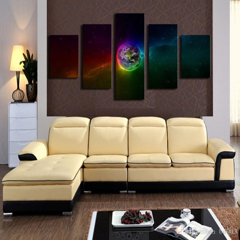 Abstract Artistic Wall Sticker Fashion Earth Design Decorative Picture Waterproof Frameless Mural Painting For Living Room 172 8jm ZZ