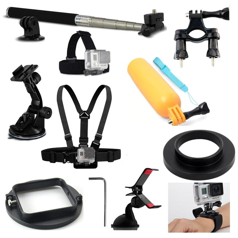 Accessories Outdoor Sports Monopod Stick Hand Strap Adjustable Chest Harness Strap for GoPro Hero 3+4 5 6 Cameras go pro