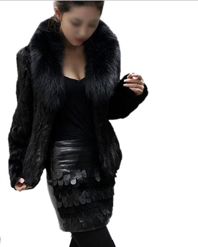 BFYL Womens Imitação de vison cabelo Nagymaros colarinho de manga comprida casaco curto