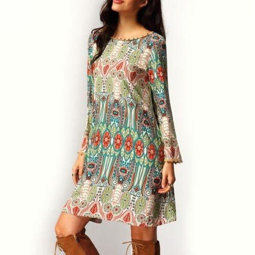 Women'S Hippie Boho Festival Gypsy Beach Dress Bohemian Casual Loose Party  Dress Sundress Womens Lace Dress Casual From Rumgggg, $32 17| DHgate Com