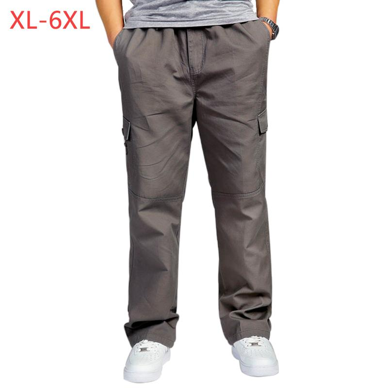 6XL Men/'s Cotton  Cargo Casual Loose overalls  Pants Military Trousers XL
