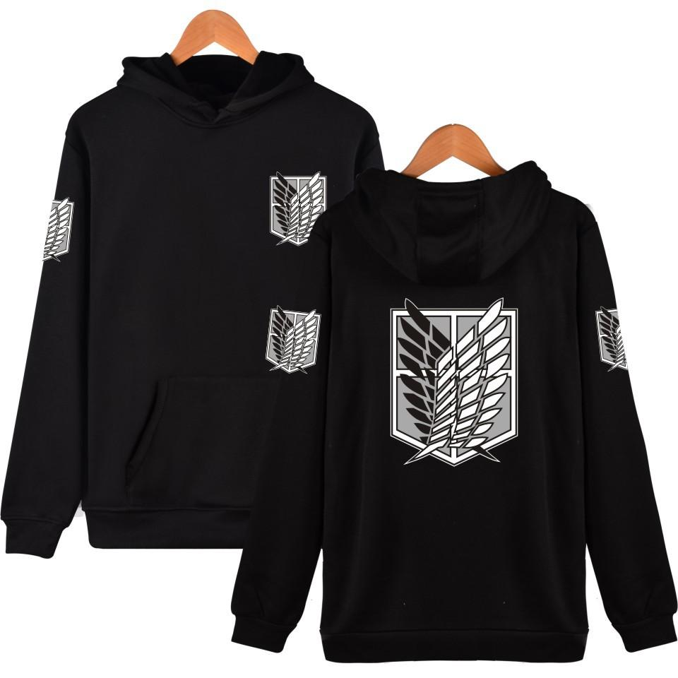 2017 Latest Fashion Hoodies Attack On Titan Harajuku Hooded Sweatshirt Recon Corps Design Hoodie Hip Hop  Clothing Hot Sale