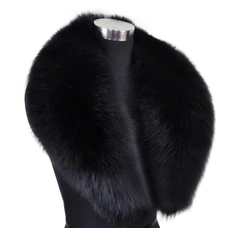 L'involucro delle donne accessorio della pelliccia della pelliccia del silenziatore della pelliccia del collo di pelliccia genuino della pelliccia di 100cm si vende all'ingrosso / vendita al dettaglio / OEM Trasporto libero