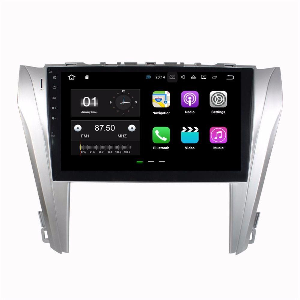 الروبوت 7.1 رباعية النواة سيارة دي في دي راديو السيارة GPS رئيس وحدة الوسائط المتعددة لتويوتا كامري 2014 2015 مع 2GB RAM بلوتوث WIFI مرآة الارتباط