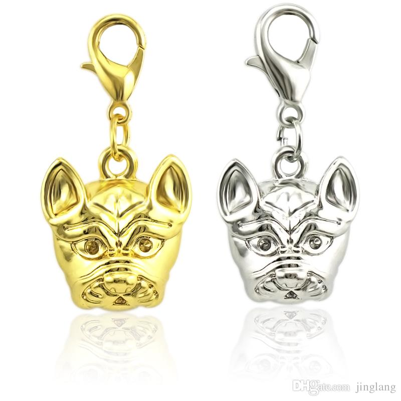 JINGLANG Mixed Gold Color Metal Dog Charms Handmade DIY European For Bracelets & Pendants Jewelry Making Wholesale