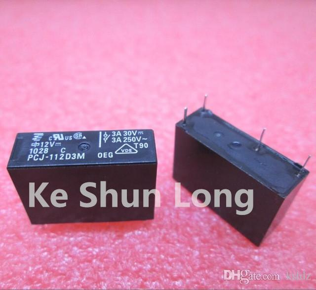 lotto Il trasporto libero (10 parti / lotto) Nuovo originale TE OEG GU-SS-112DM 4pins 5A 12VDC relè di potenza
