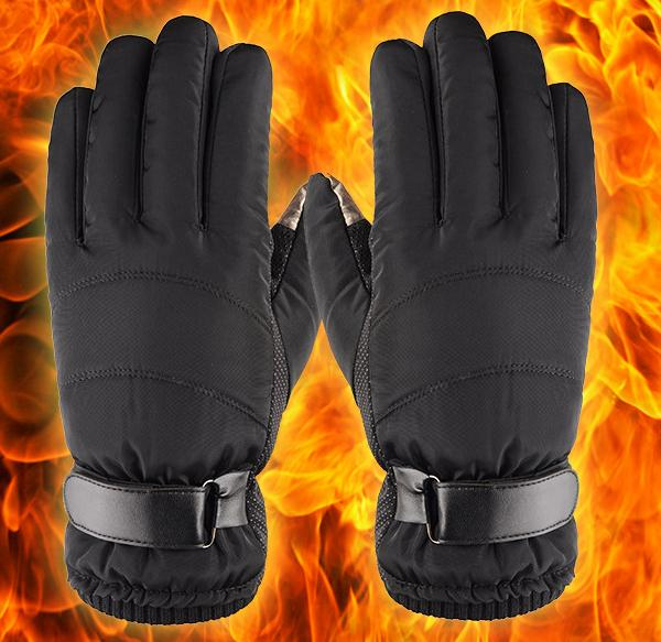 Windproof waterproof Gloves for skiing cycling other outdoor activities thumb index fingertips with conductive fabric ftouch phone screen
