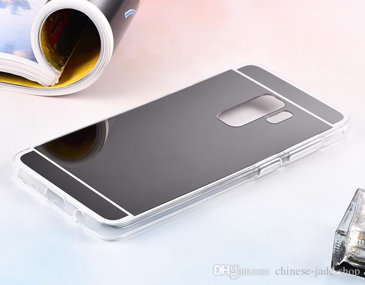 Mirror Case Electroplating Chrome Soft TPU Case Cover för Samsung Galaxy A8 A8 PLUS A6 A6 PLUS A10 A20 A30 A40 A50 A70 M10 M20 100PCS / LOT