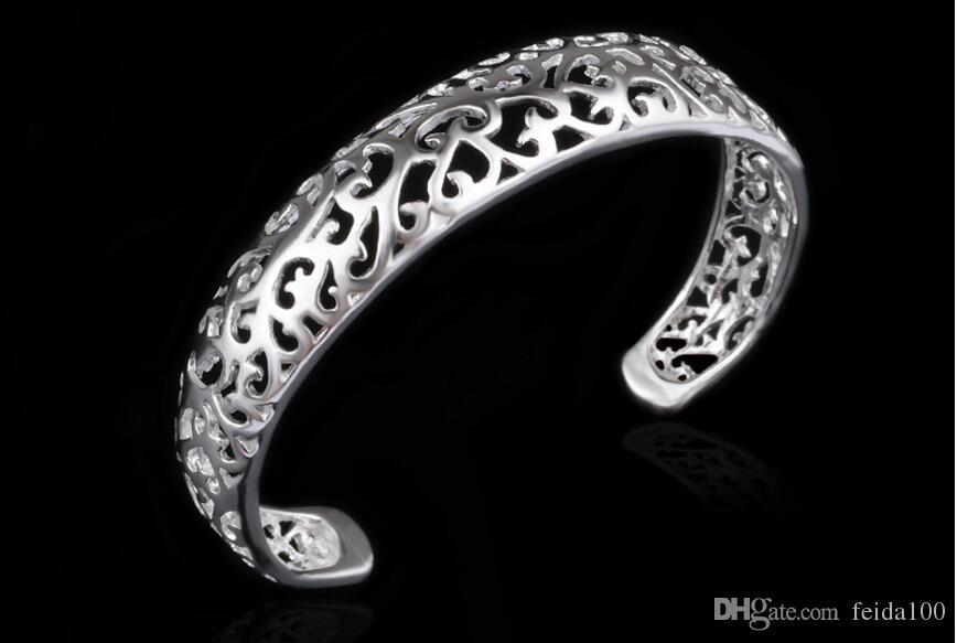 Vendita di fili di braccialetti vuoti, bracciali, bracciale in argento, gioielli in argento da regalo, bracciale coreano europeo e americano L320