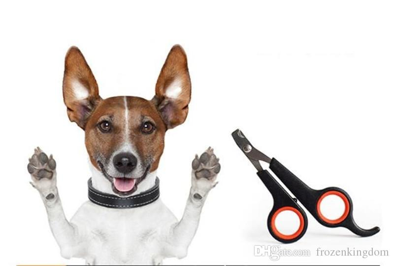 Menor Preço Frete Grátis 200 pçs / lote Pet Dog Care Cat Cortador de Unhas Little Scissors Grooming Trimmer