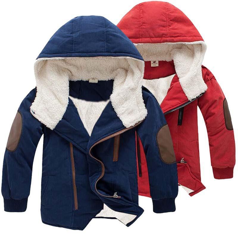 Toddler Boys Girls Jacket Hooded Zip Velvet Warm Coat Windproof Waterproof Outdoor Casual Outerwear