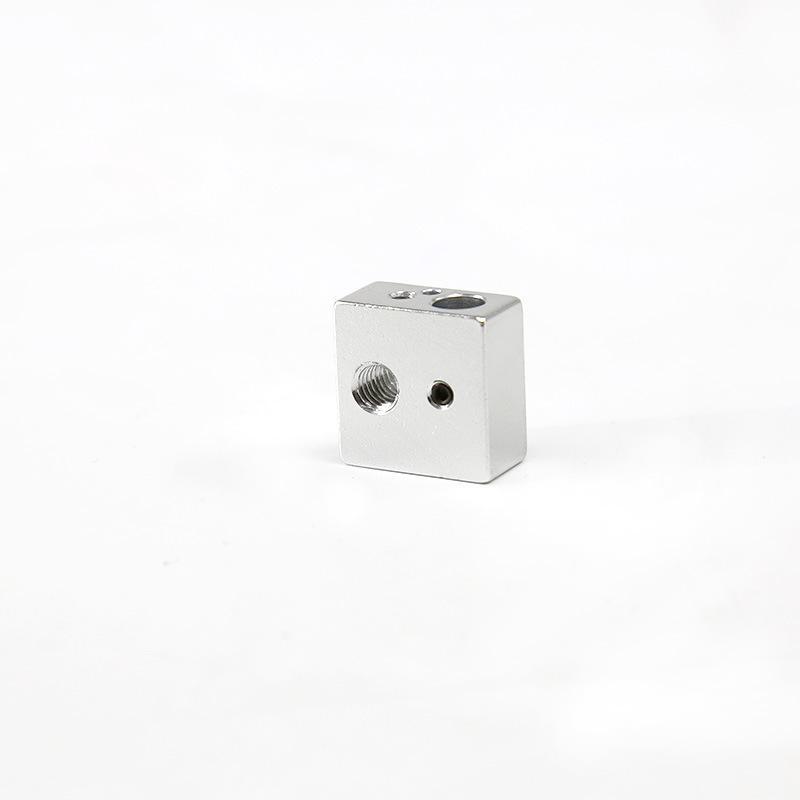 MK8 가열 블록 20x20x10mm MK7 MK8 압출기 CTC Makerbot 3D 프린터 용 열 블록 부품 액세서리