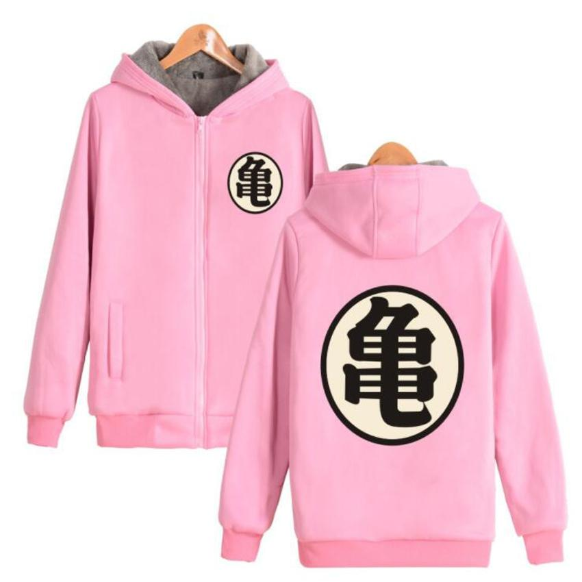 competitive price wide varieties online for sale 2020 Anime Dragon Ball Z Pink Hoodie Women Men Dragonball Son Goku ...