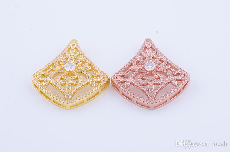 Wholesale Handmade DIY Jewelry Findings Crystal Zircon Accessories Charms Bracelets Necklaces Clasps Bijoux Connectors Berloques Fittings