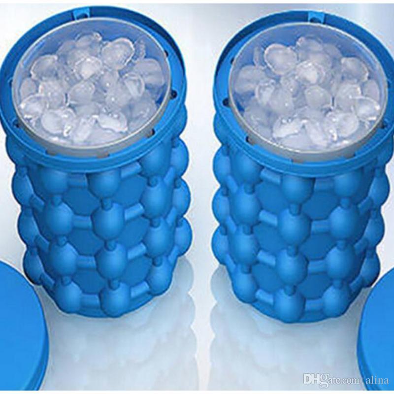 Ice Cube Maker Genie و الفضاء الثوري إنقاذ الجني Irlde Ice Genie Kitchen Tools دلاء الثلج ألعاب خارجية 100pcs التي